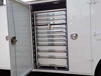toolboxes installed in a service truck
