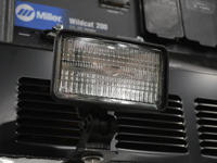 halogen work lights mounted on a service truck