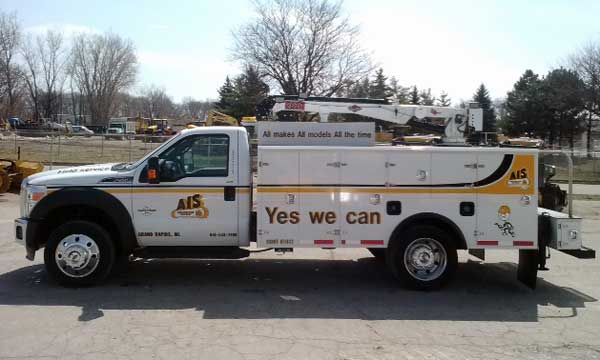 Imt Service Truck Bumper Step : Aluminum service body qt equipment