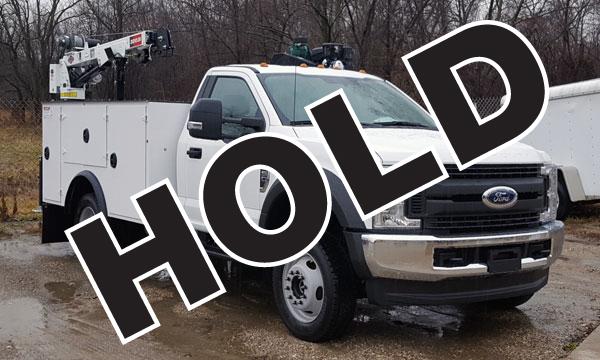 service truck 2017 F450 9' DSC20, 3203i Crane