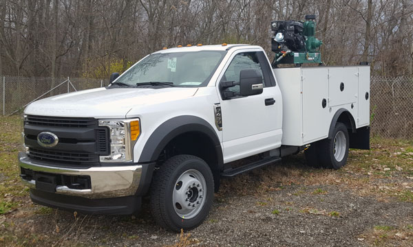 service truck 2017 F450 9' DSC20, 4004i Crane