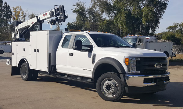 Ford F550 Ext Cab With Crane and Compressor