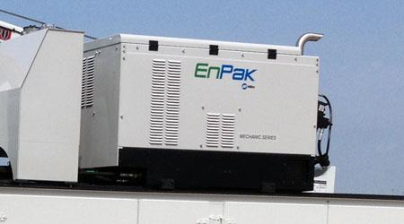 Miller EnPak mounted on service truck