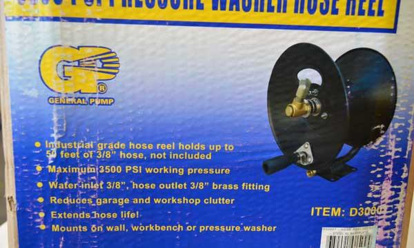 3500 psi pressure washer hose reel
